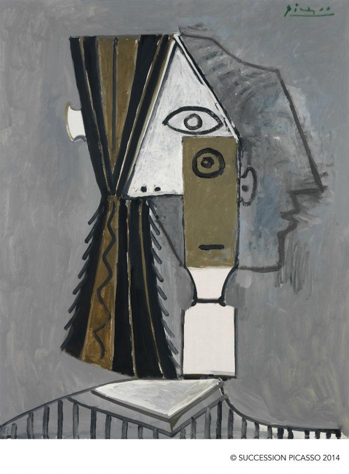 Pablo Picasso La cabeza 1957