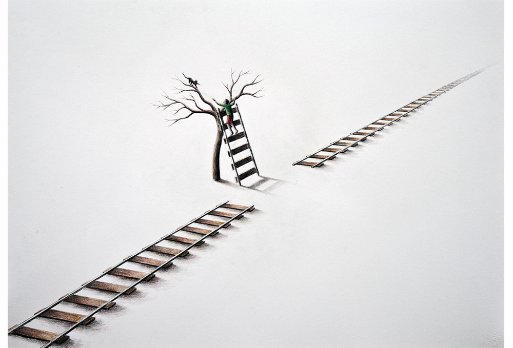 Ladder-Pencil-on-paper-50-x-70-cm-2012