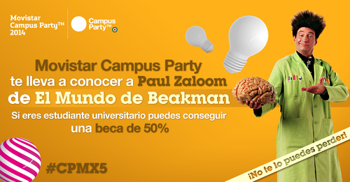 Beakman en Campus Party México 2014