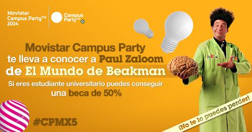 Beakman en Campus Party México 2014