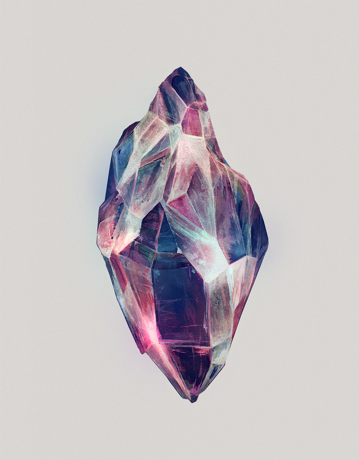 Watercolor Paintings of Crystals by Karina Eibatova (3)