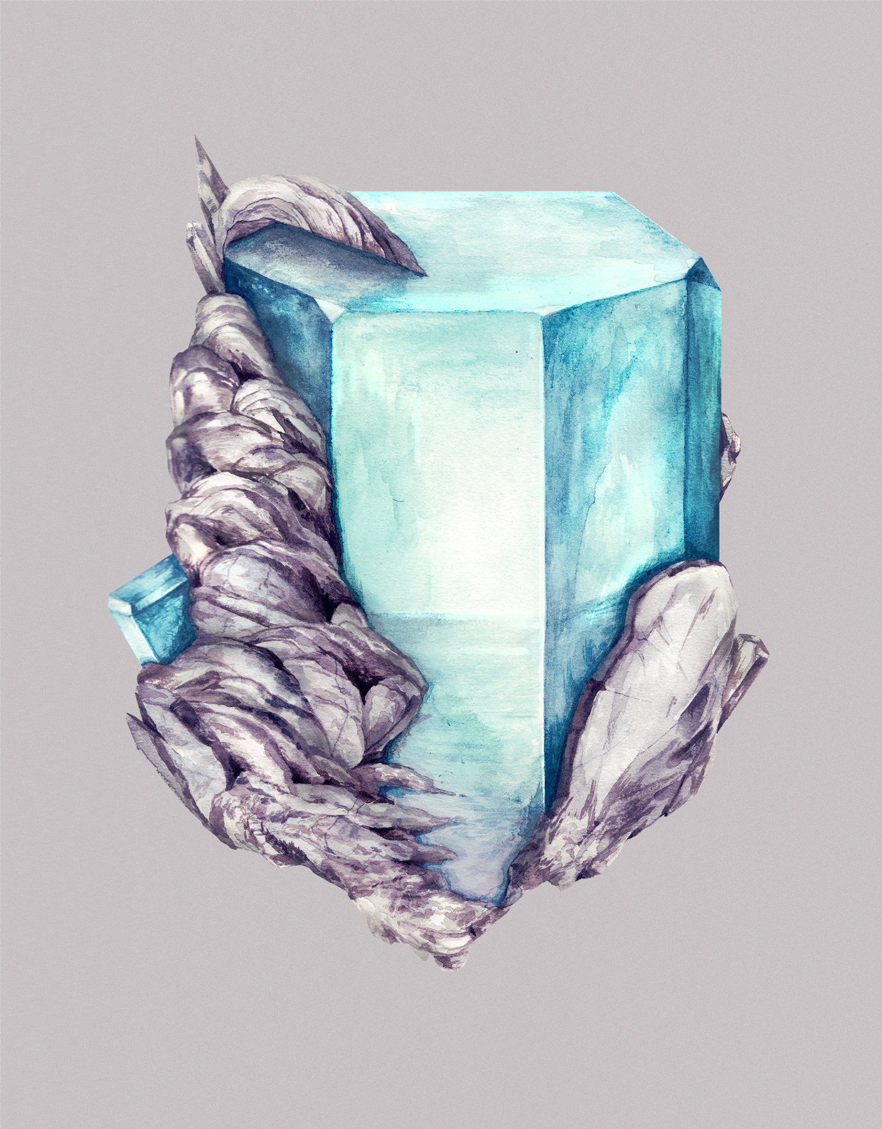 Watercolor Paintings of Crystals by Karina Eibatova (4)