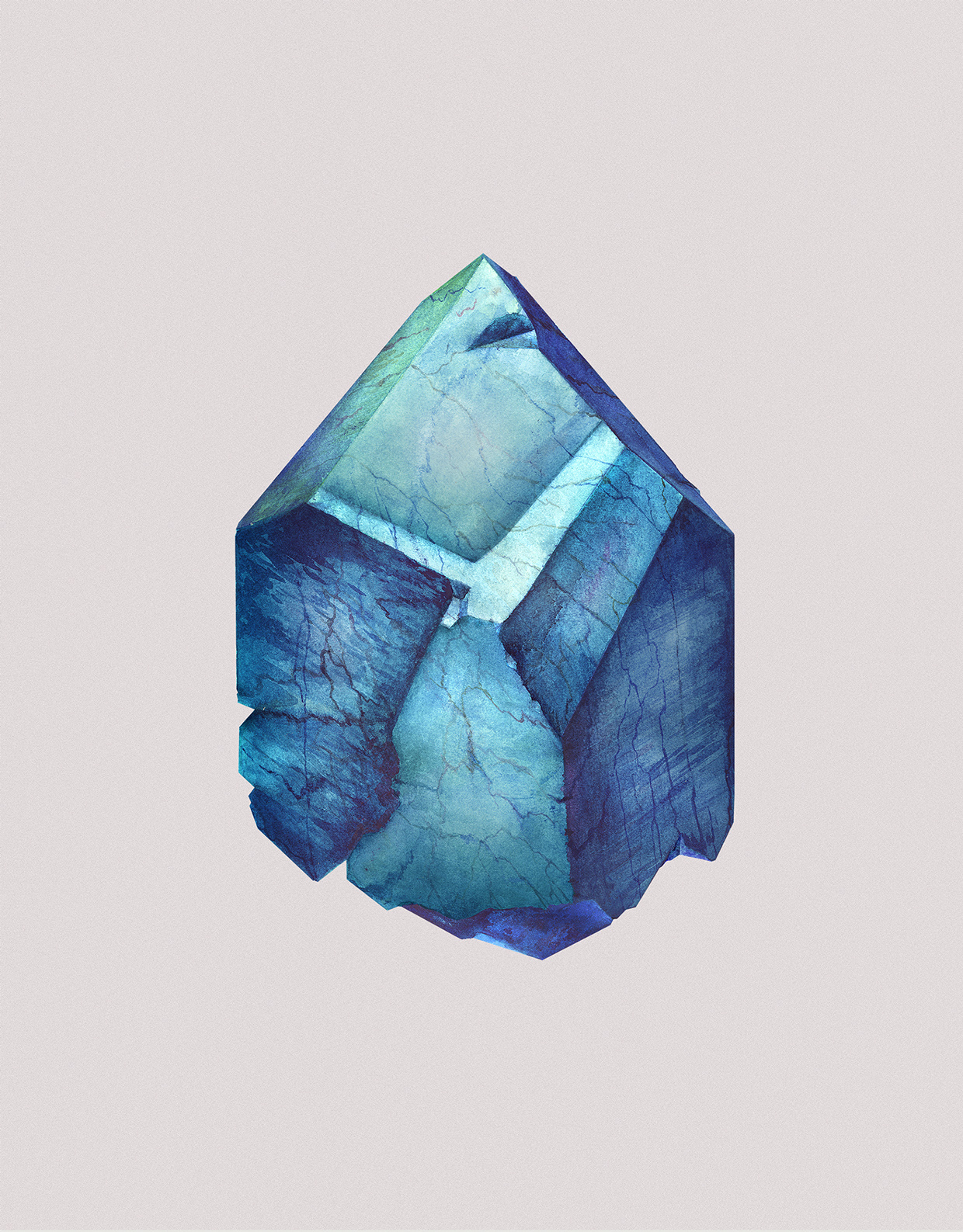 Watercolor Paintings of Crystals by Karina Eibatova (6)