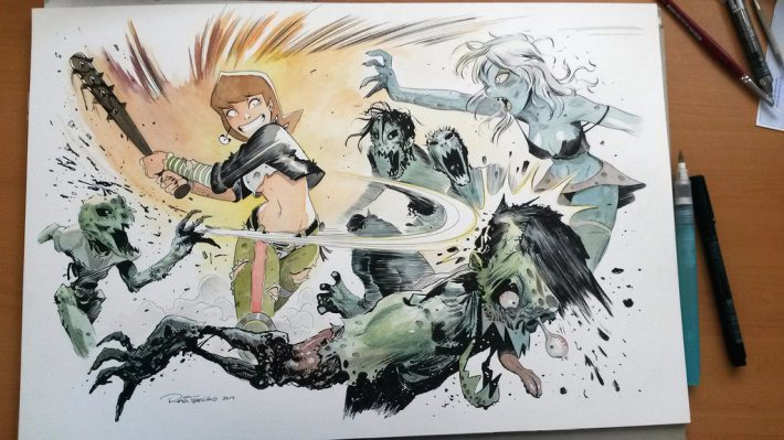 milla_beating_zombies_by_raultrevino-d884qab