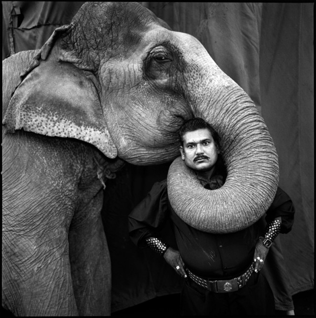 Ram-Prakash-Singh-with-His-Elephant-Shyama.Great-Golden-Circus-Ahmedabad-1990-640x644