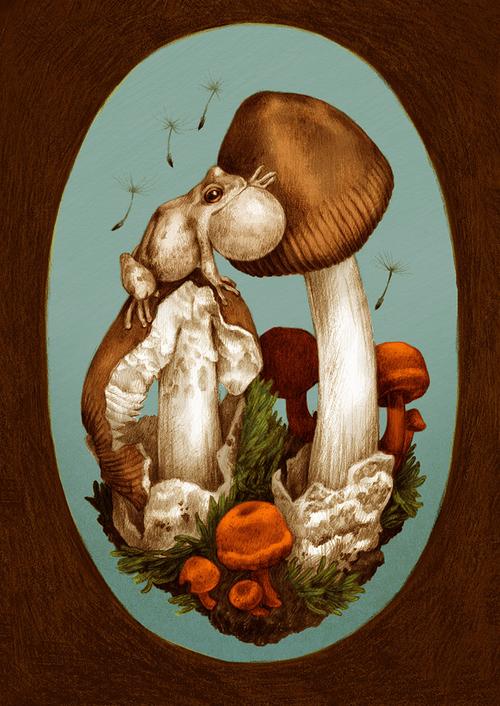 Zoe-Keller-Mushroom-Postcard-Frog