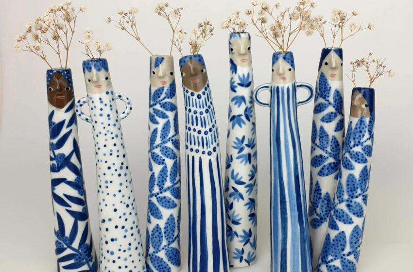 Divertidos y extraños floreros de Sandra Apperloo
